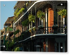 Streets Of New Orleans Acrylic Print by Lori Mellen-Pagliaro