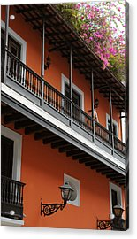 Streets Of Old San Juan Acrylic Print by Stephen Anderson