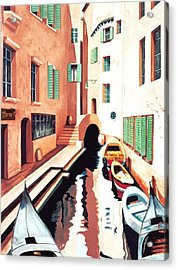 Streets Of Venice - Prints From Original Oil Painting Acrylic Print