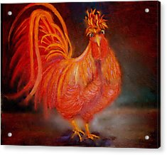 Acrylic Print featuring the painting Strutting by Marie Hamby