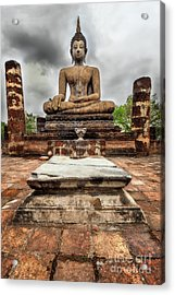 Sukhothai Historical Park Acrylic Print by Adrian Evans