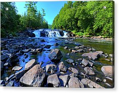 Summer At Buttermilk Falls Acrylic Print by David Patterson