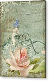 Summer At Cape May - Bicycle Acrylic Print by Audrey Jeanne Roberts