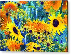 Acrylic Print featuring the photograph Summer Bouquet by Byron Varvarigos