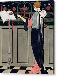 Summer Evening Wear From Art Gout Beaute Acrylic Print by Georges Barbier