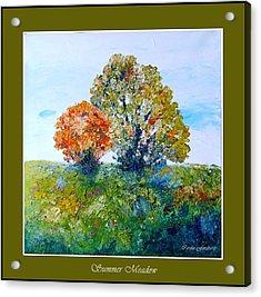 Summer Meadow Acrylic Print by Carola Ann-Margret Forsberg
