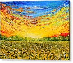 Summer Acrylic Print by Teresa Wegrzyn