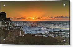 Sun Rising Over The Sea Acrylic Print
