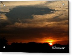Acrylic Print featuring the photograph Sun Set by Paul SEQUENCE Ferguson             sequence dot net