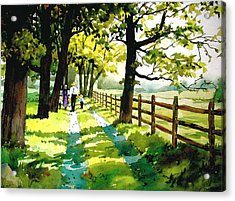 Sunday Afternoon Acrylic Print by Faye Ziegler