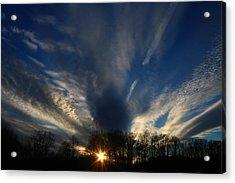 Sundown Skies Acrylic Print by Kathryn Meyer