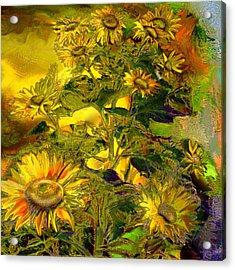 Sunflowers Acrylic Print by Anne Weirich