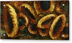 Sunflowers Acrylic Print by Michael Lang