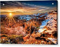 Sunrise At Bryce Acrylic Print