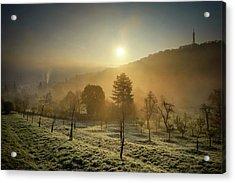 Sunrise From Petrin Yard In Prague, Czech Republic Acrylic Print