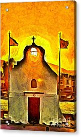 Sunrise In Aegina Port Acrylic Print by George Atsametakis