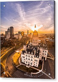 Sunrise In Hartford, Connecticut Acrylic Print