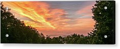 Acrylic Print featuring the photograph Sunrise July 22 2015 by D K Wall