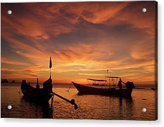 Sunrise On Koh Tao Island In Thailand Acrylic Print