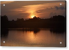 Sunrise On The Bayou Acrylic Print