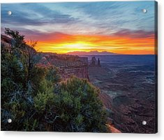 Acrylic Print featuring the photograph Sunrise Over Canyonlands by Darren White