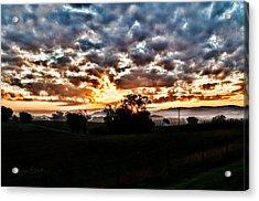 Sunrise Over Fields Acrylic Print