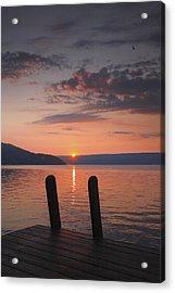 Sunrise Over Keuka V Acrylic Print by Steven Ainsworth