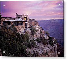 Sunrise Over Lookout Studio Acrylic Print by Mike Buchheit