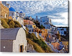 Sunrise Over Oia Acrylic Print