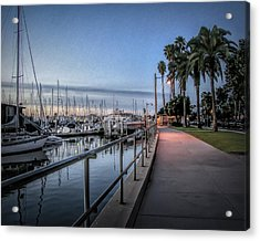 Sunrise Over Santa Barbara Marina Acrylic Print by Tom Mc Nemar