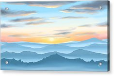 Acrylic Print featuring the painting Sunrise by Veronica Minozzi