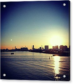 #sunset  #夕焼け Acrylic Print by Bow Sanpo
