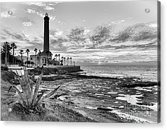 Acrylic Print featuring the photograph Sunset At Chipiona Lighthouse Cadiz Spain by Pablo Avanzini