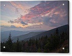 Sunset At Clingman's Dome Acrylic Print