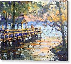 Sunset At Fishermans Park Acrylic Print