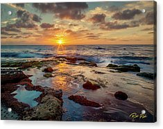 Acrylic Print featuring the photograph Sunset At La Jolla  by Rikk Flohr