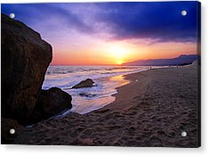 Sunset At Pt. Dume Acrylic Print by Ron Regalado