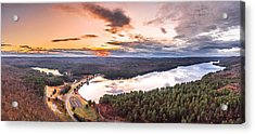 Sunset At Saville Dam - Barkhamsted Reservoir Connecticut Acrylic Print