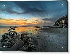 Sunset At Swamis Beach Acrylic Print