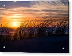 Acrylic Print featuring the photograph sunset at the North Sea by Hannes Cmarits