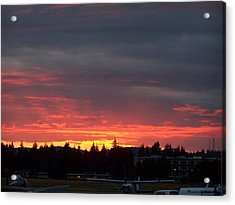 Sunset At Tumwater Acrylic Print by Laurie Kidd