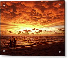 Acrylic Print featuring the photograph Sunset Before The Storm by Melanie Moraga