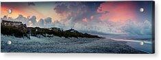 Sunset Emerald Isle Crystal Coast Acrylic Print