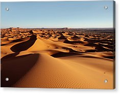 Sunset In Erg Chebbi Acrylic Print