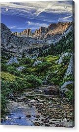 Sunset In The Upper Matterhorn Acrylic Print