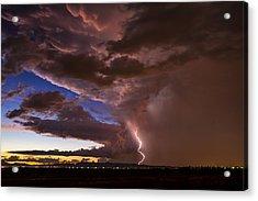 Sunset Lightning In Phoenix Acrylic Print by Saija  Lehtonen