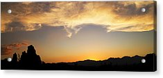 Sunset On Rademacher Acrylic Print by Mike Hill