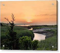 Sunset Over Marsh Acrylic Print