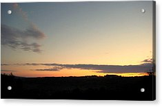 Sunset Over Oxford Acrylic Print by Marcia Crispino