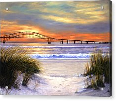 Sunset Over Robert Moses Acrylic Print